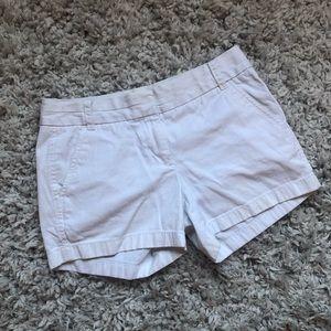 """White J.Crew 4"""" Chino Shorts"""